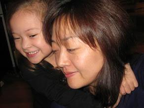 Euna Lee and daughter